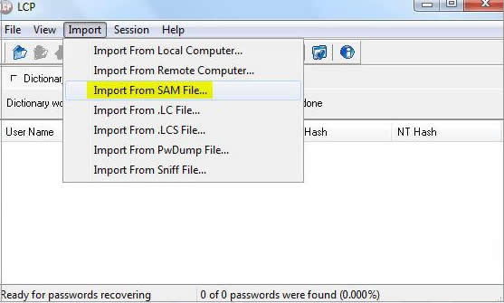 LCP windows password recovery