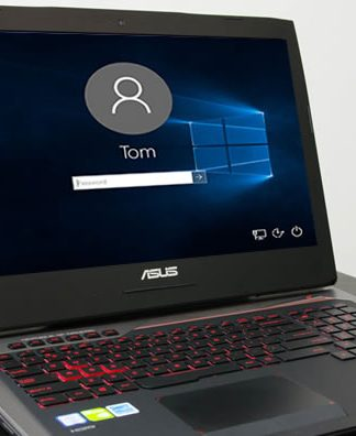 reset asus laptop password