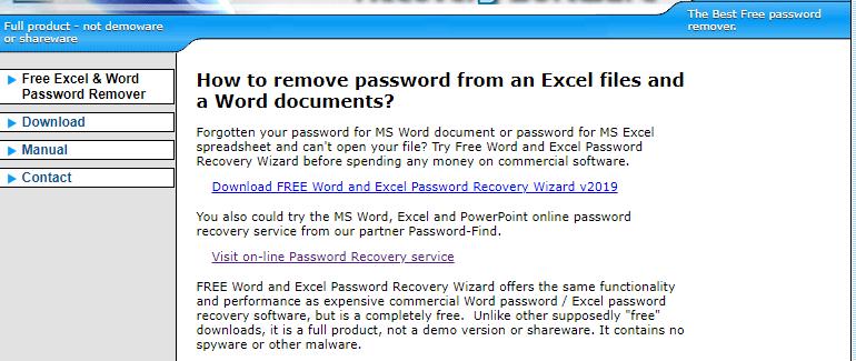 Excel Password Recovery Online