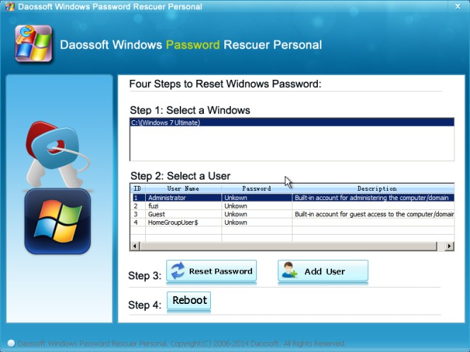 Daossoft Windows Password Reset