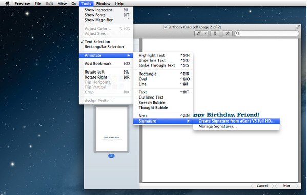 pdf editor for mac - Preview