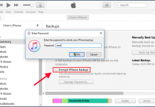 unlock itunes backup